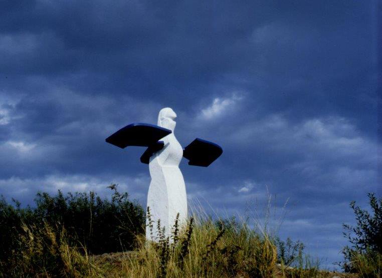 © Hans-Oiseau Kalkman Skulptur: Der Grenzstein